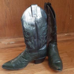 Justin Armadillo Skin Western Boots 5.5